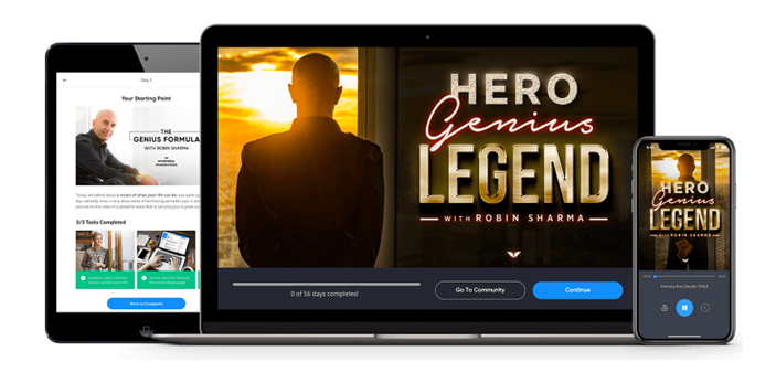 Hero Genius Legend - Robin Sharma - Mindvalley