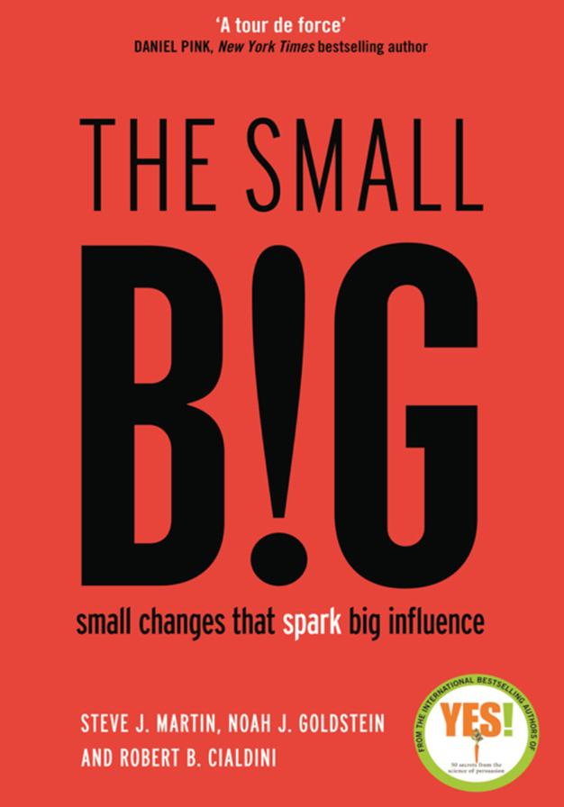 The Small BIG - Small Changes that Spark Big Influence